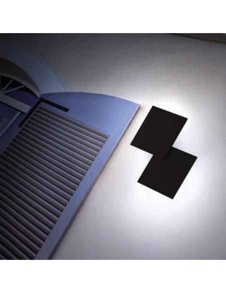 applique double square noir sur façade extérieure - Studio Italia Design - Valente Design