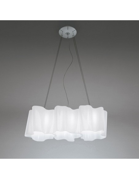 Suspension Logico 3 in linea diffuseur blanc - Artemide - Valente Design