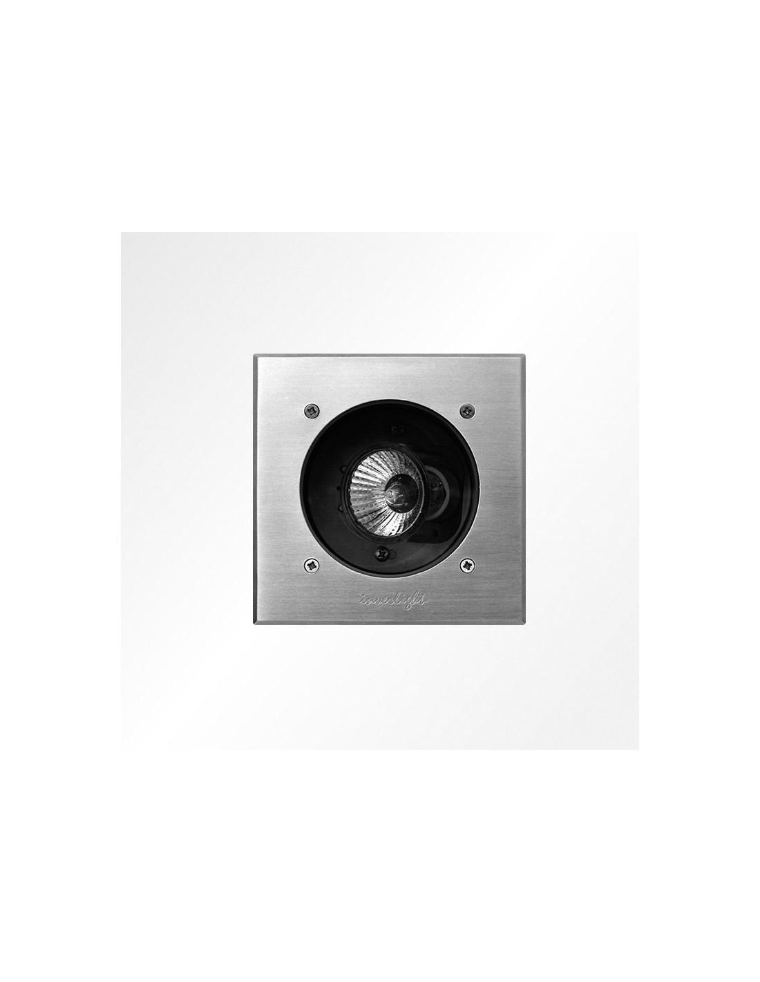 Spot Encastré Marell 13 Carré 230V en finition inox de Inverlight- Valente design
