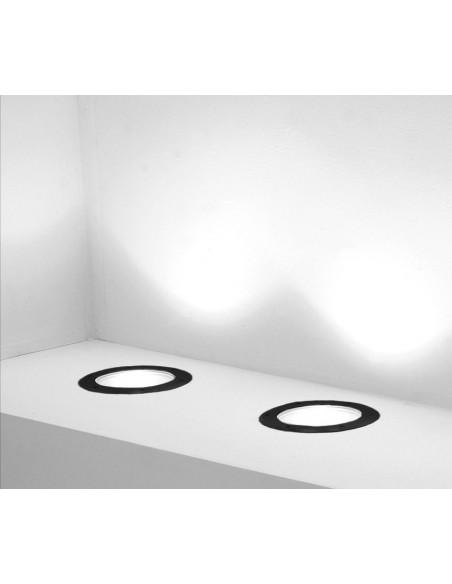 Spot Encastré Marell 22 Rond PAR 30 230V en finition natural black de Inverlight - Valente design