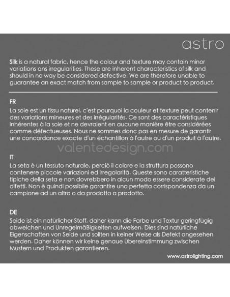 lampe de table ravello chrome et abat-jour oyster huitre astro lighting spécificité de la soie - Valente Design
