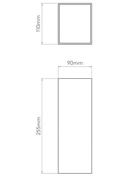 Applique Oslo 255 led astro lighting schéma plan Valente design