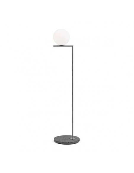 Lampadaire ICF outdoor structure chrom / pied lave grise Flos Valente Design