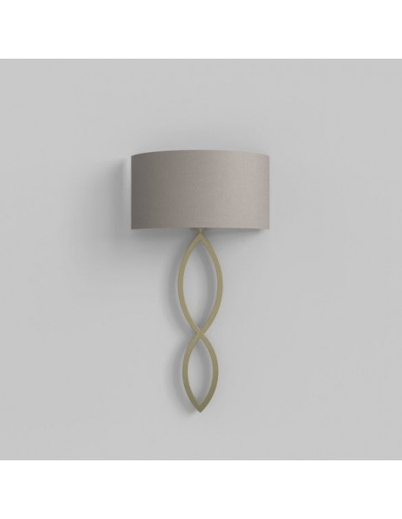 Applique Caserta or mat abat-jour gris clair putty éteinte AstroLighting Valente Design