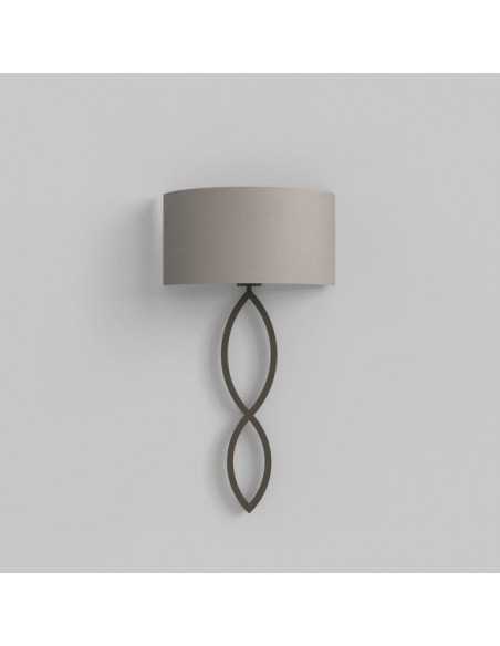 Applique Caserta bronze abat-jour gris clair putty éteinte AstroLighting Valente Design