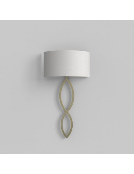 Applique Caserta or mat abat-jour blanc éteinte AstroLighting Valente Design