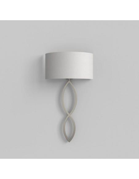 Applique Caserta nickel mat abat-jour blanc vue d\'ensemble AstroLighting Valente Design