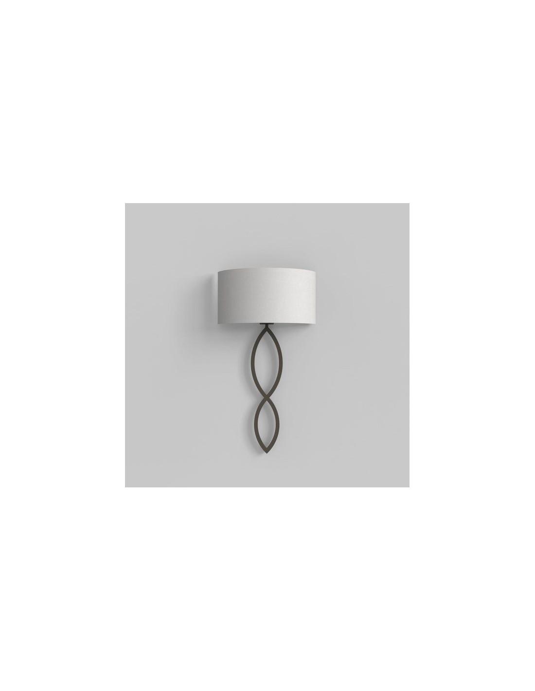 Applique Caserta bronze abat-jour blanc vue éteinte AstroLighting Valente Design