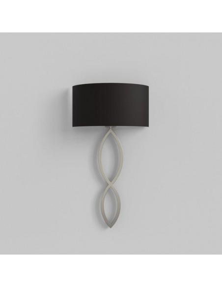 Applique Caserta nickel mat abat-jour noir vue éteinte AstroLighting Valente Design