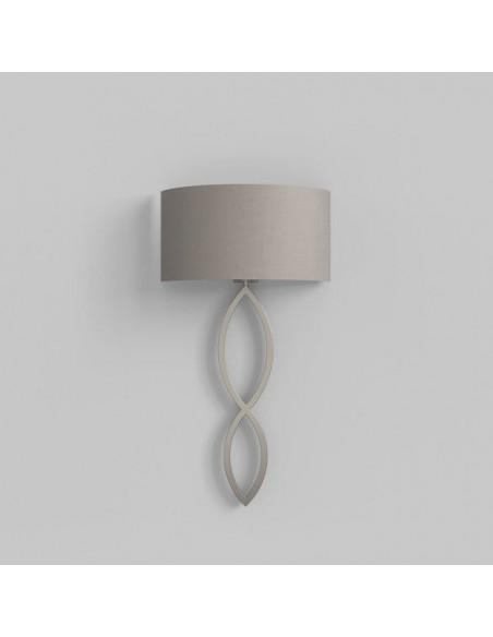 Applique Caserta nickel mat abat-jour gris clair putty vue générale AstroLighting Valente Design
