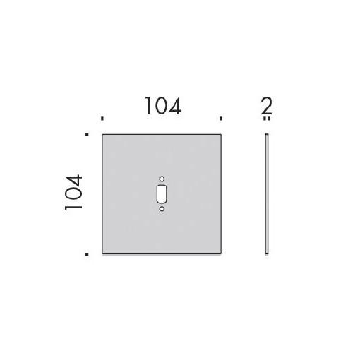Plaque de fixation 10,4 x 10,4cm pour applique liseuse Toccami