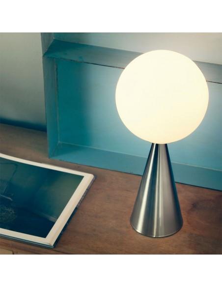 Mise en scène Lampe de table  Bilia Mini nickel fontana arte  Valente Design