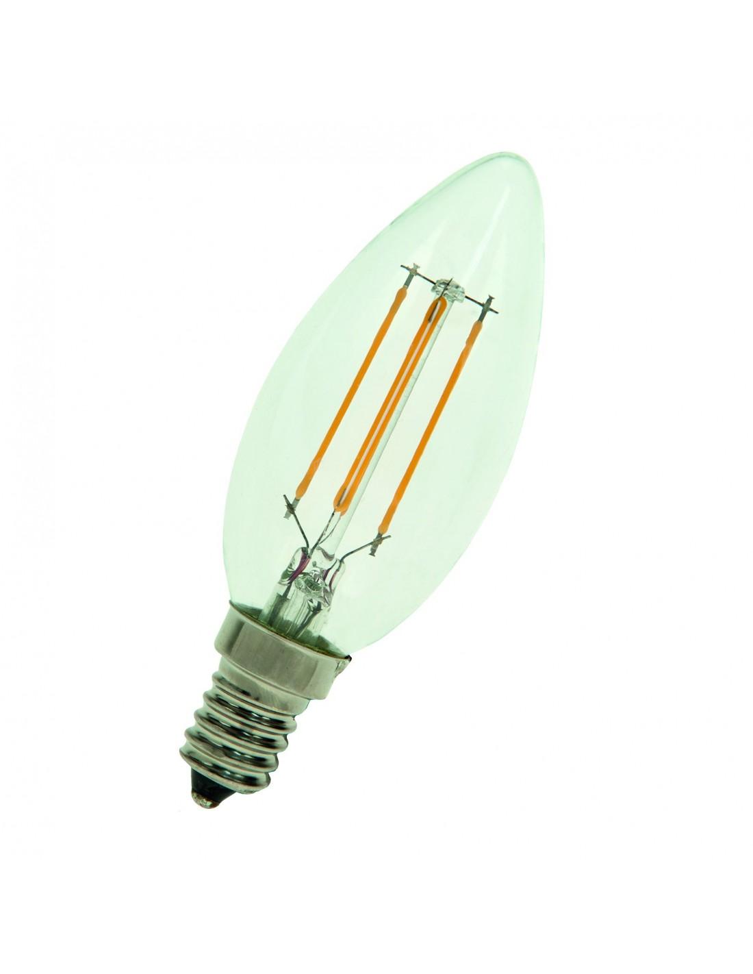 Ampoule E14 filament LED 4W forme bougie Bailey Valente Design