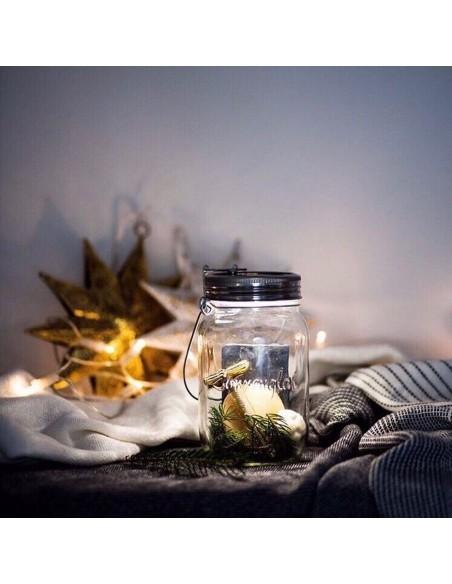 Lampe solaire sans fil SONNENGLAS® Valente Design avec petite trésors