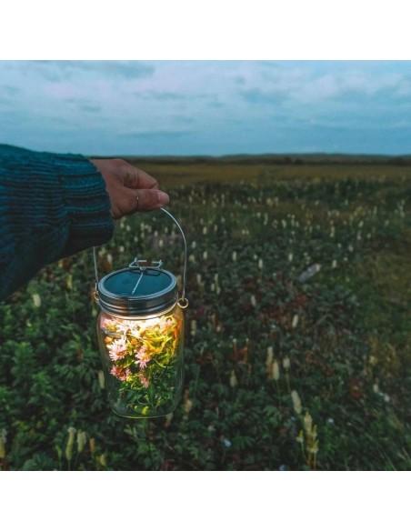 Lampe solaire sans fil SONNENGLAS® Valente Design fleurs faiches