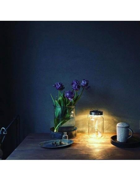 Lampe solaire sans fil SONNENGLAS® Valente Design sur table
