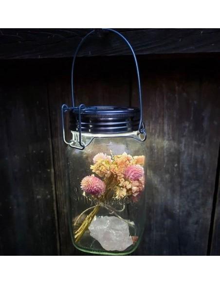 Lampe solaire sans fil SONNENGLAS® Valente Design bouquet de fleurs