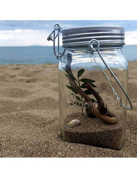 Lampe solaire sans fil SONNENGLAS® Valente Design avec sable