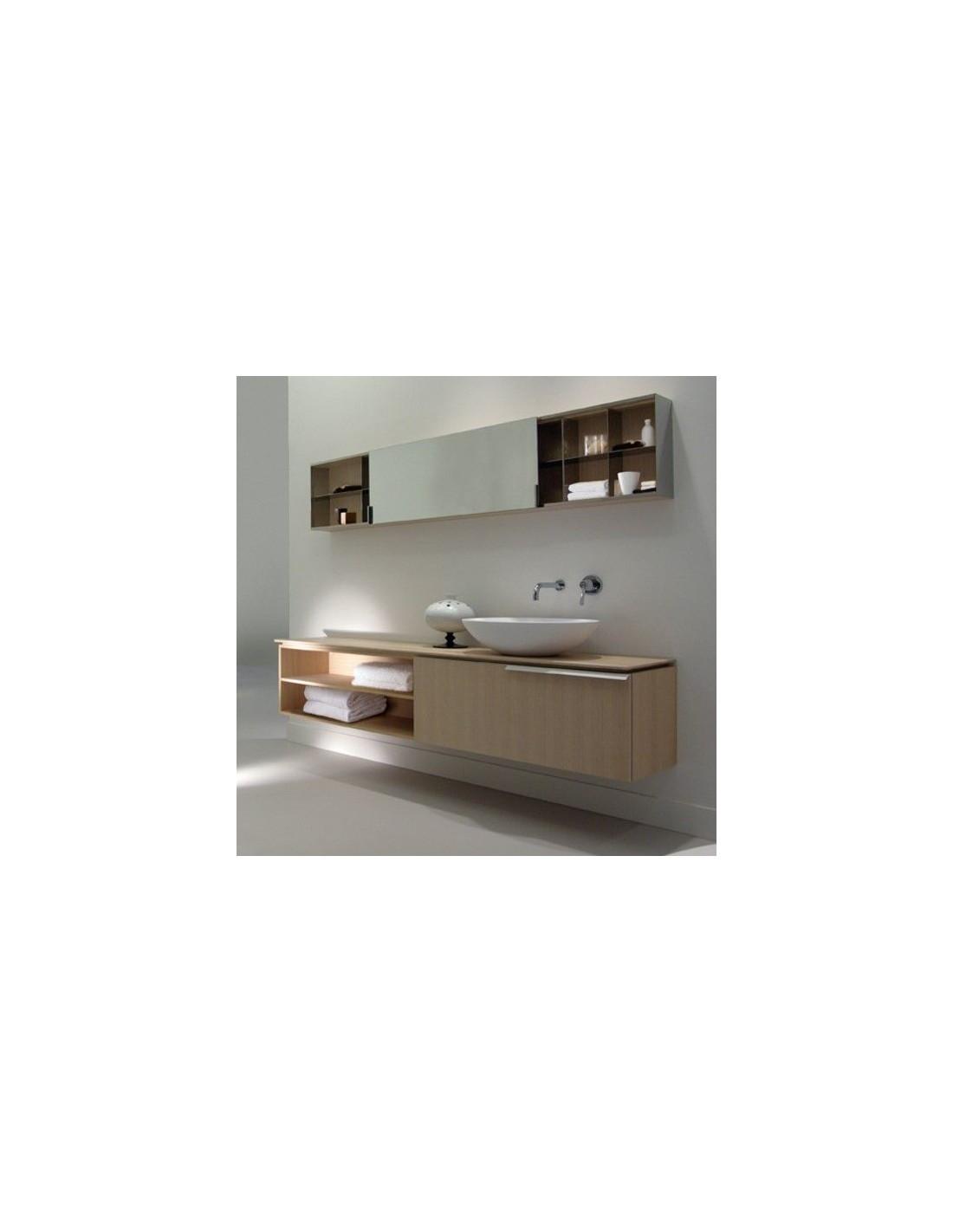 Salle de bain avec la vasque à poser Spoon de la marque Agape - Valente Design