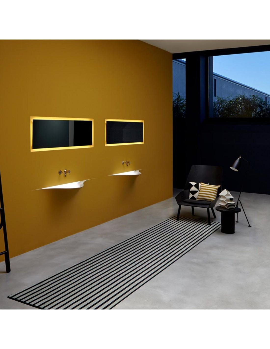Vasque design silenzio LED dans une chambre par la marque Antonio Lupi - Valente Design
