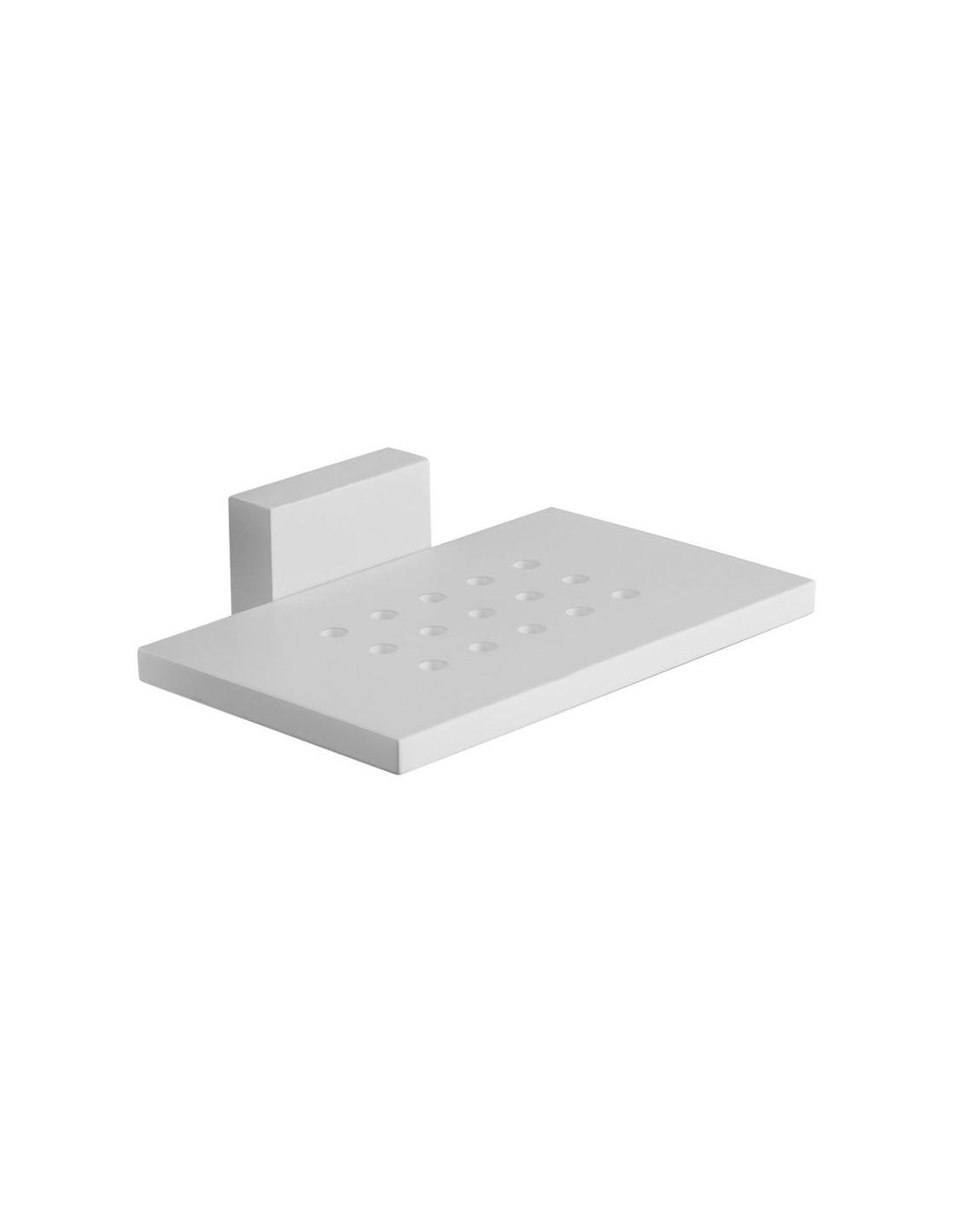 Porte savon à fixer blanc de la collection Quattro pour la marque Fontana Arte , à retrouver chez Valente Design
