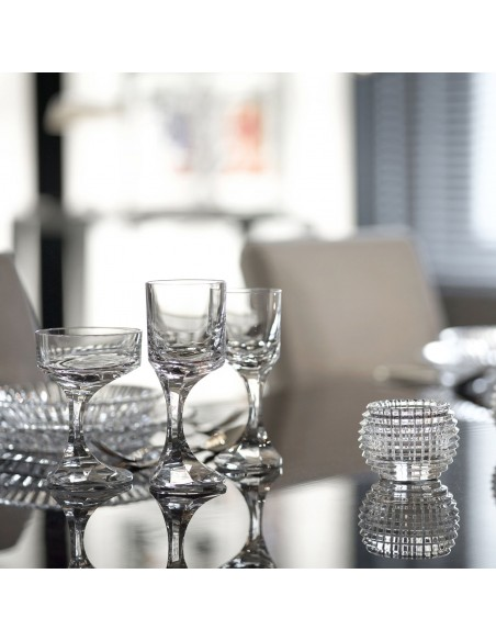 Ensemble de verres de la collection Narcisse pour la marque Baccarat - Valente Design