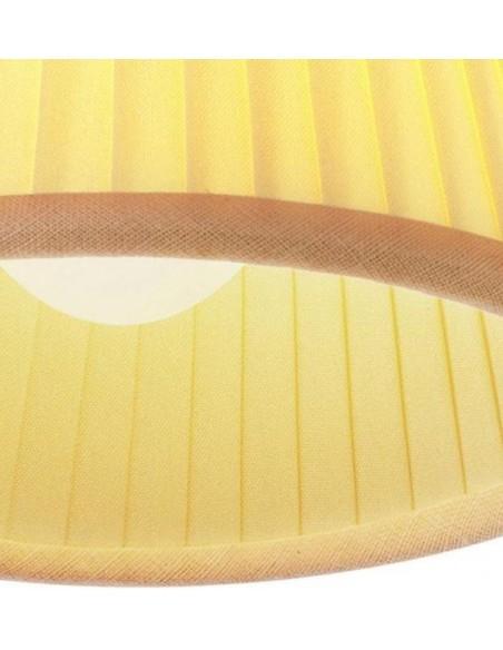 Zoom sur l'abat-jour plissé en tissu de la suspension Romeo Babe Soft S de Philippe Starck pour Flos - Valente Design