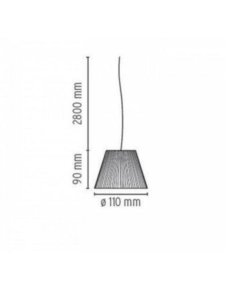 Schéma de la suspension Romeo Babe Soft S plan Flos de Philippe Starck chez la marque Flos  - Valente Design