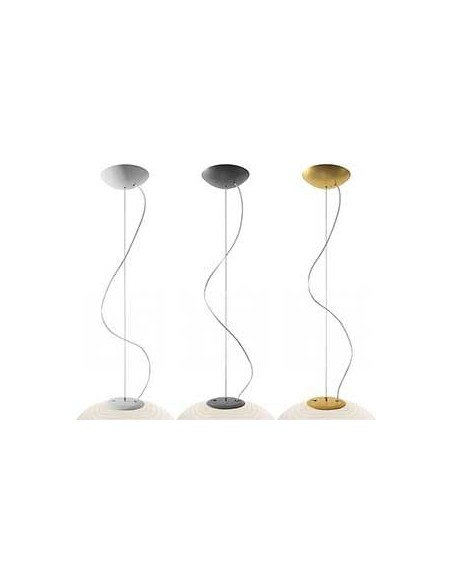 Structures blanc, or et graphite suspension Rituals XL foscarini valente design