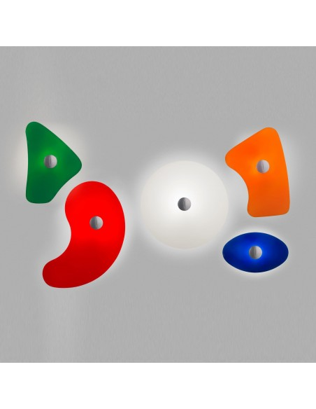 Ensemble des appliques bit issues du lampadaire orbital de Ferruccio Laviani pour la marque Foscarini chez Valente Design