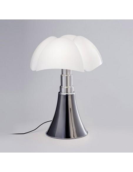 Lampe de table Pipistrello Medium LED titane - Martinelli Luce Valente Design Gae Aulenti