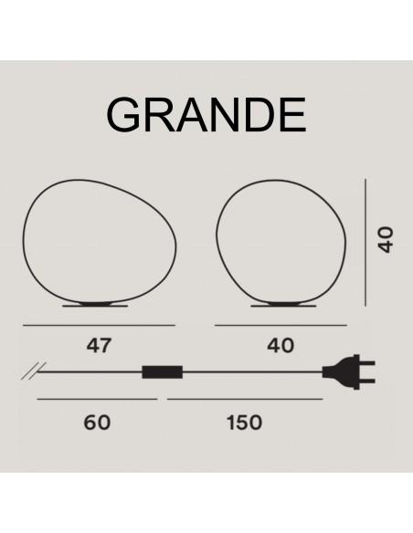 Schéma de la lampe à poser Gregg Grande de la marque Foscarini en vente Chez Valente Design