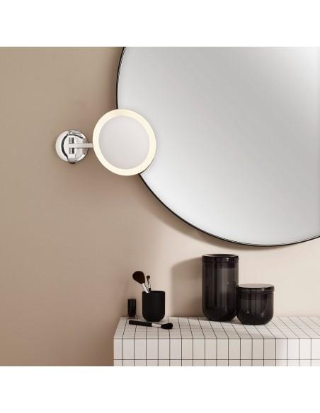 Photo d\'ambiance Miroir Mascali Round LED chrome Astro Lighting Valente Design