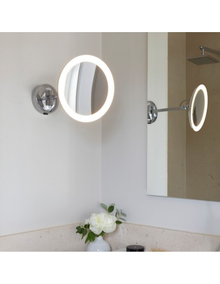 Mise en scène miroir Mascali Round LED chrome Astro Lighting Valente Design