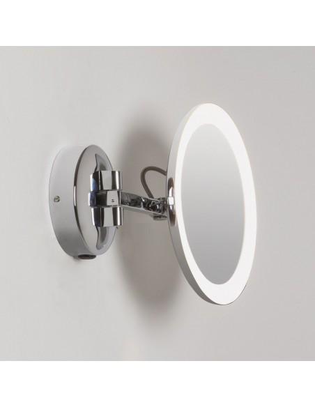 Vue d'ensemble du miroir Mascali Round LED chrome Astro Lighting Valente Design
