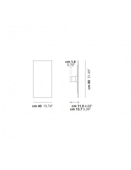Dimensions applique / Plafonnier Puzzle Mega Rectangular MDF Studio Italia Design Valente Design