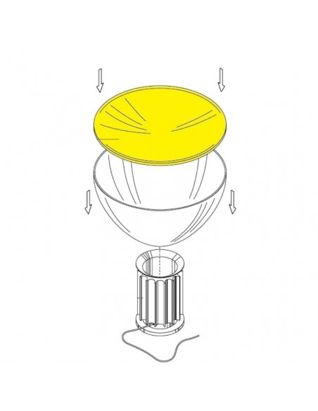 Schéma Réflecteur blanc pour lampe Taccia Flos Valente Design