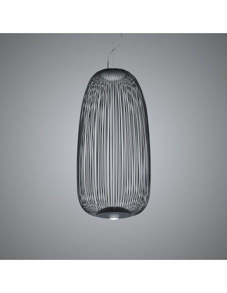 Suspension Spokes 1 noire Foscarini Valente Design