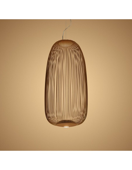 Suspension Spokes 1 cuivre Foscarini Valente Design