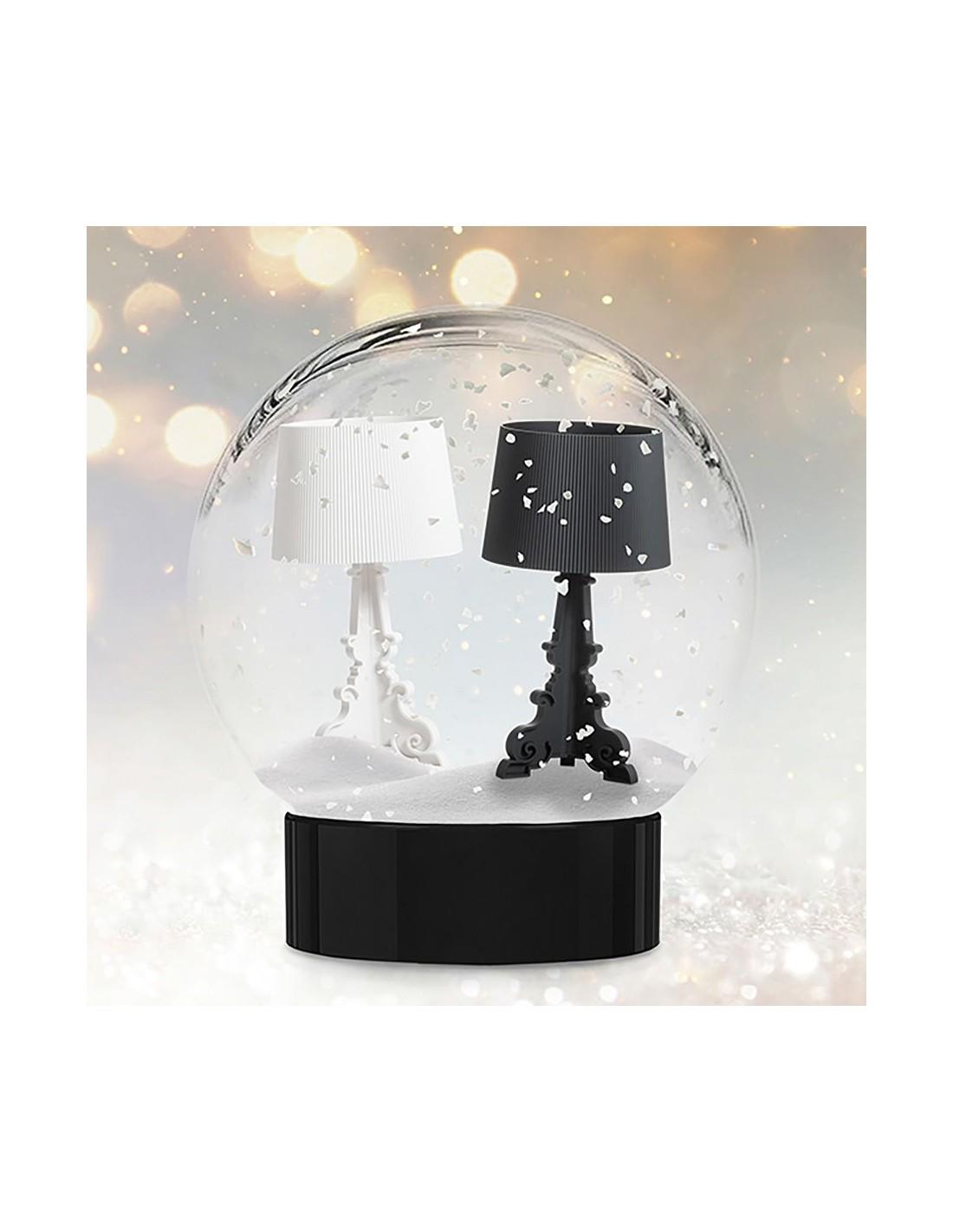Lampe de table Bourgie mat, noir et blanc,  Kartell Valente Design pour Noêl