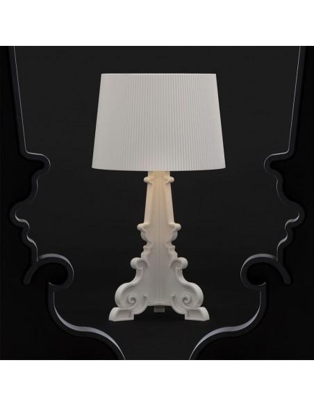 Lampe de table Bourgie blanc mat Kartell Valente Design mise en scène