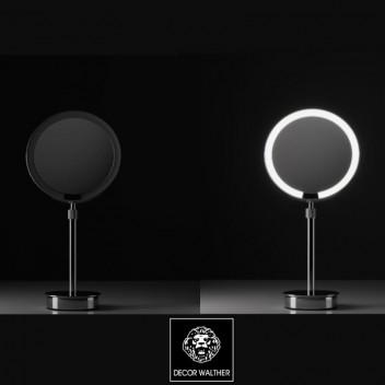 Miroir rond grossissant éclairant sur pied motion sensor JUST LOOK SR