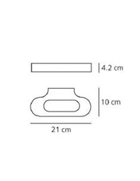 Schéma de l'applique Talo LED Artemide Valente Design