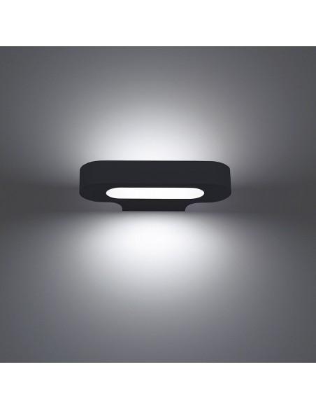 Applique Talo LED noir vue de face Artemide Valente Design