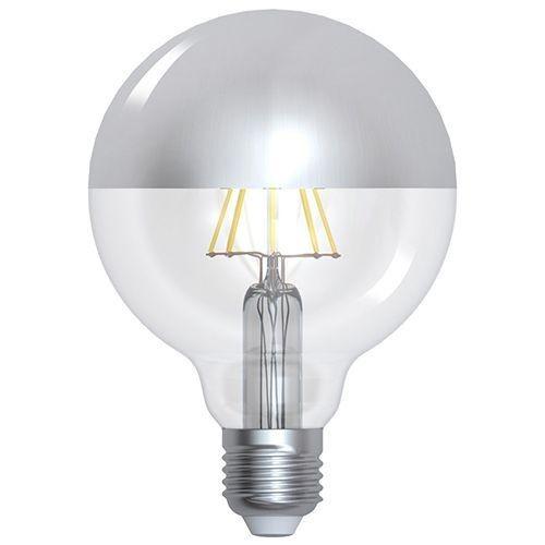 Ampoule E27 8W LED G95 calotte argentée