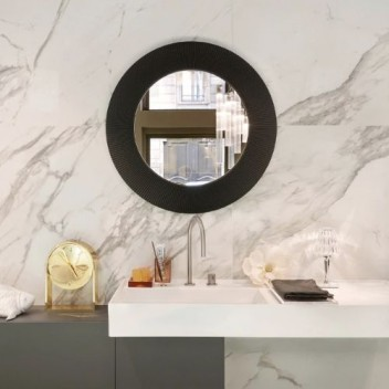Miroir ALL SAINTS rond mural - collection KARTELL BY LAUFEN