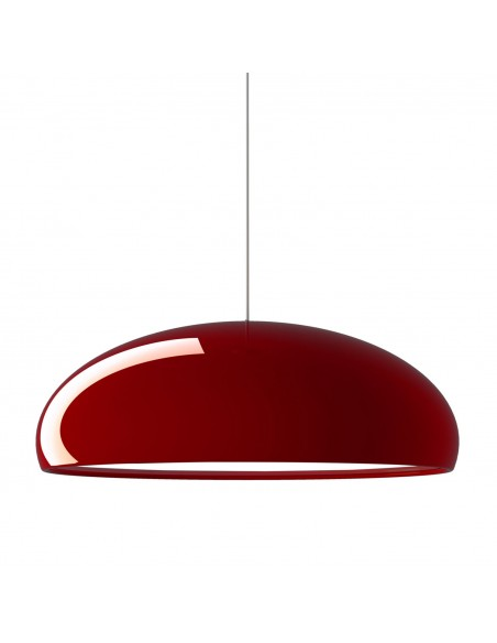 Suspension Pangen rouge vue d\'ensemble Fontana Arte
