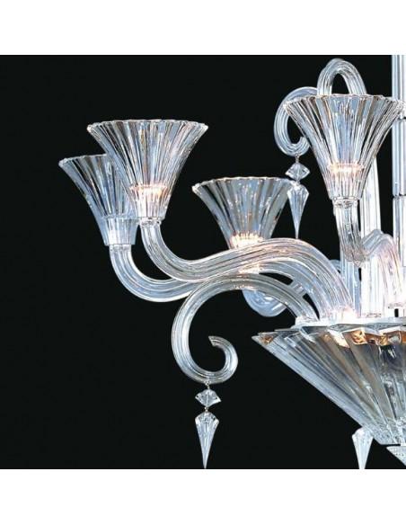 Détail du lustre Mille Nuits pour la marque Baccarat- Valente Design
