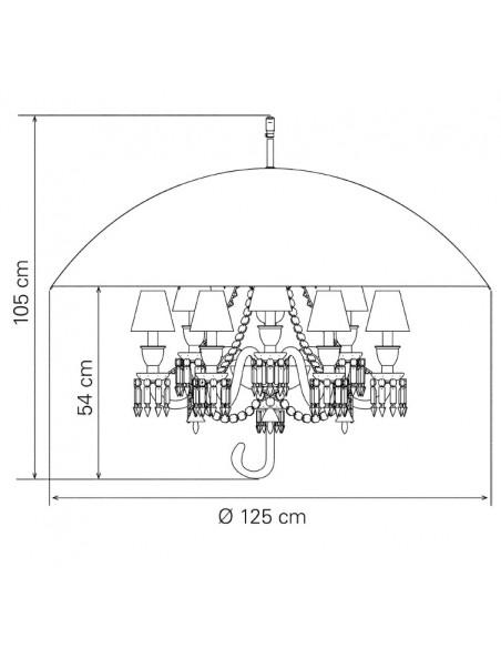 Schéma pour le lustre Marie Coquine signé « Baccarat STARCK » - Valente Design