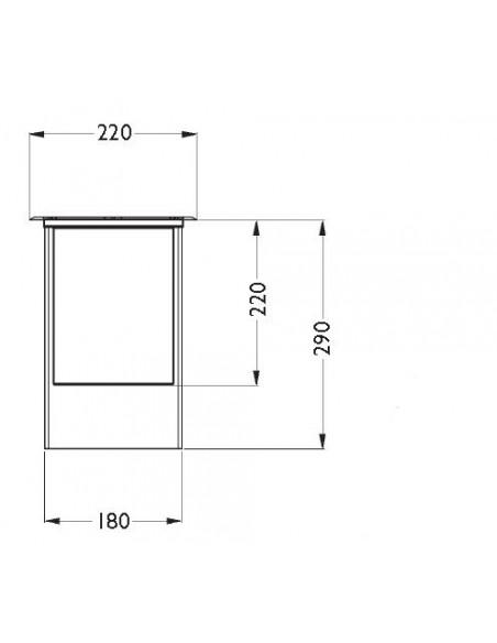 Spot Encastré Marell 22 Rond PAR 30 230V plan et schéma de Inverlight - Valente design